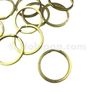 - 32 MM Ezme Anahtarlık Halkası 10-50-100 Adet Gold