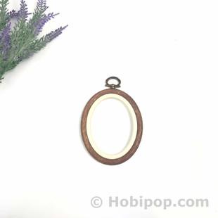NURGE - Ağaç Görünümlü Pano Kasnak Oval No:1
