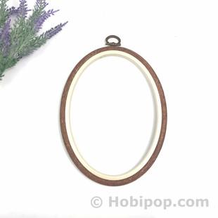 NURGE - Ağaç Görünümlü Pano Kasnak Oval No:3