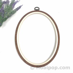 NURGE - Ağaç Görünümlü Pano Kasnak Oval No:4