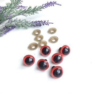- Amigurumi Vidalı Göz 1 Çift 15 mm Kırmızı