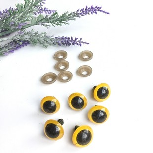 HOBİPOP - Amigurumi Vidalı Göz 1 Çift 15 mm Sarı