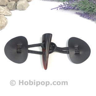 HOBİPOP - Deri Biritli Çoban Düğme Acı Kahve