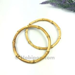 HOBİPOP - Gerçek Bambu Çanta Sapı 12 CM