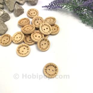- Handmade Ahşap Düğme Büyük