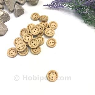 - Handmade Ahşap Düğme Küçük