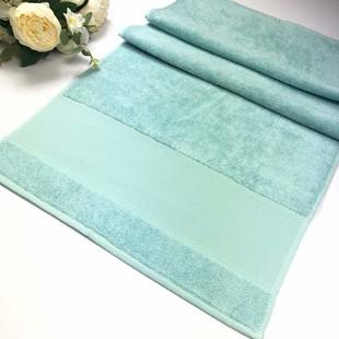 GLAMOUR - İşlemelik Etaminli Bukle Havlu Mint Yeşil