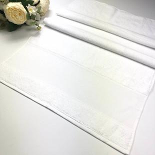 GLAMOUR - İşlemelik Etaminli Bukle Havlu Beyaz