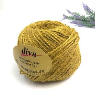 DİVA - Jüt İpi Hardal Sarı