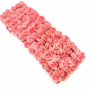 HOBİPOP - Kağıt Gül Süsleme Çiçeği 144 lü Yavru Ağzı
