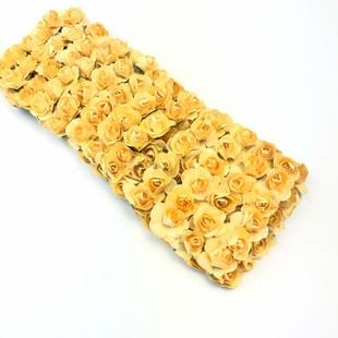 HOBİPOP - Kağıt Gül Süsleme Çiçeği 144 lü Kavuniçi