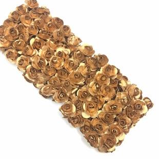 - Kağıt Gül Süsleme Çiçeği 144 lü Bakır