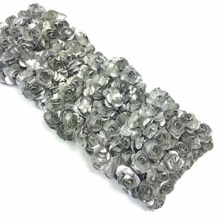 HOBİPOP - Kağıt Gül Süsleme Çiçeği 144 lü Gümüş