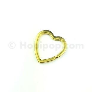 - Kalp Anahtarlık Halkası 30 mm Gold