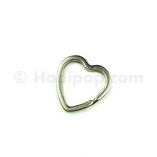 - Kalp Anahtarlık Halkası 30 mm Gümüş Renk