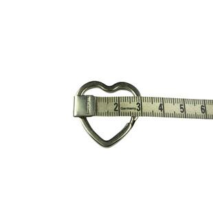 Kalp Anahtarlık Halkası 30 mm Gümüş Renk - Thumbnail