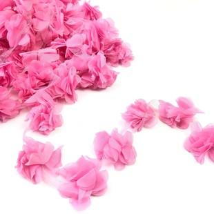 HOBİPOP - Lazer Kesim Şifon Çiçek Şeker Pembe