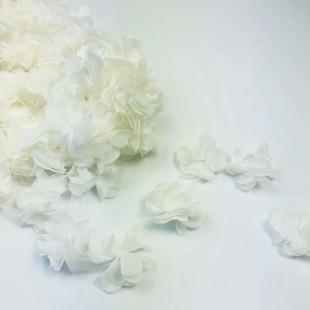 HOBİPOP - Lazer Kesim Şifon Çiçek Beyaz