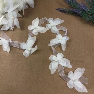 HOBİPOP - Lazer Kesim Şifon Kelebek Beyaz