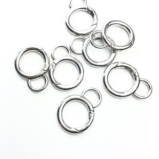 HOBİPOP - Metal Yaylı Çanta Halkası Gümüş