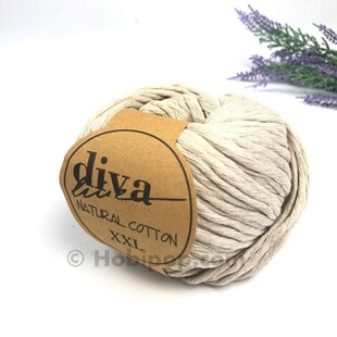 DİVA - Natural Cotton XXL Tarama Makrome İpi Bej