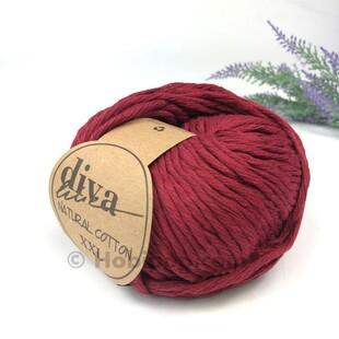 DİVA - Natural Cotton XXL Tarama Makrome İpi Bordo