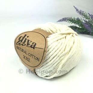 DİVA - Natural Cotton XXL Tarama Makrome İpi Ecru