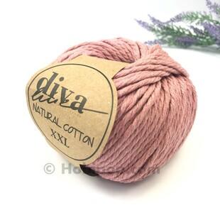 DİVA - Natural Cotton XXL Tarama Makrome İpi Koyu Pudra