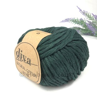 DİVA - Natural Cotton XXL Tarama Makrome İpi Ördek Başı Yeşil