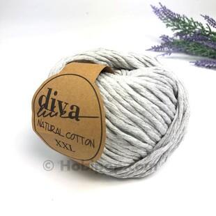 DİVA - Natural Cotton XXL Tarama Makrome İpi Açık Gri