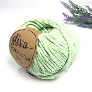 DİVA - Natural Cotton XXL Tarama Makrome İpi Su Yeşili