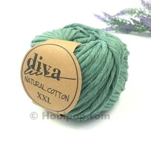 DİVA - Natural Cotton XXL Tarama Makrome İpi Yeşil