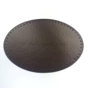 - Örgü Çanta Tabanı Oval Kahverengi