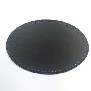 - Örgü Çanta Tabanı Oval Siyah