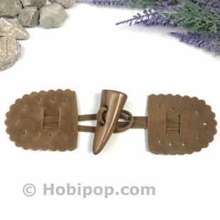 HOBİPOP - Süet Biritli Çoban Düğme Camel