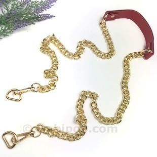 - Papağan Kilitli Uzun Altın Zincirli Çanta Sapı Kırmızı