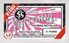 VİKTORİA - Viktoria Toz Kumaş Boyası 01 Pembe