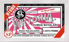 VİKTORİA - Viktoria Toz Kumaş Boyası 04 Koyu Pembe