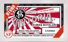 VİKTORİA - Viktoria Toz Kumaş Boyası 08 Kırmızı