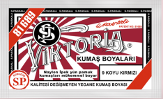 VİKTORİA - Viktoria Toz Kumaş Boyası 09 Koyu Kırmızı