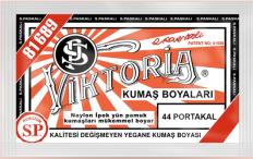 VİKTORİA - Viktoria Toz Kumaş Boyası 44 Portakal