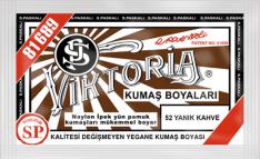 VİKTORİA - Viktoria Toz Kumaş Boyası 52 Yanık Kahve