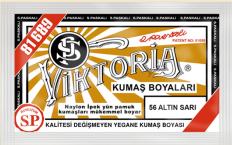 VİKTORİA - Viktoria Toz Kumaş Boyası 56 Altın Sarı