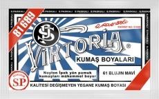 VİKTORİA - Viktoria Toz Kumaş Boyası 61 Blujin Mavi